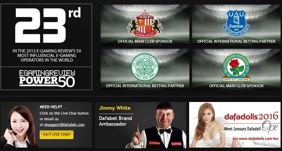 Asia's #1 Online Gaming Portal, Welcome to DAFABET.NET ...